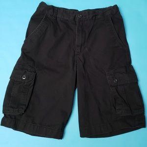 *Boys Black cargo shorts w/adjustible waist
